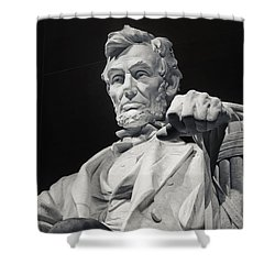 Lincoln Shower Curtain by Joan Carroll