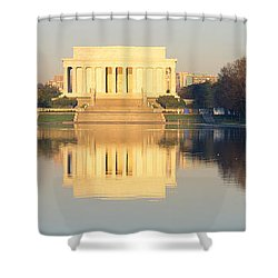 Lincoln Memorial & Reflecting Pool Shower Curtain by Panoramic Images
