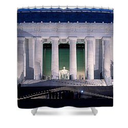 Lincoln Memorial At Dusk, Washington Shower Curtain by Panoramic Images