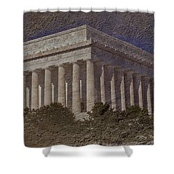 Lincoln Memorial Shower Curtain by Skip Willits