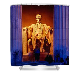 Lincoln Memorial, Washington Dc Shower Curtain by Panoramic Images