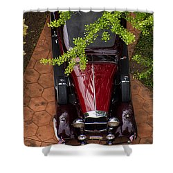 Lincoln Town Car Shower Curtain by Thomas Woolworth
