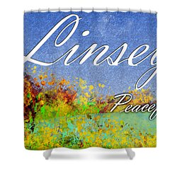 Linsey - Peaceful Shower Curtain by Christopher Gaston