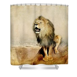 Lion Shower Curtain by Heike Hultsch