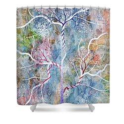 Lipid Branches Shower Curtain by Sumit Mehndiratta