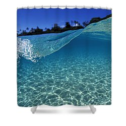 Liquid Energy Shower Curtain by Sean Davey