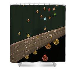 Liquid Gold Shower Curtain by Angela A Stanton