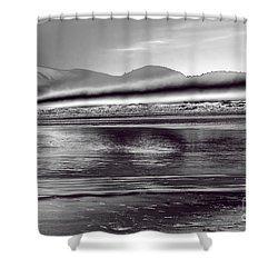 Liquid Metal Shower Curtain by Jon Burch Photography