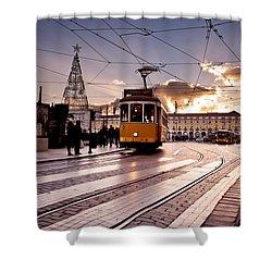Lisbon Light Shower Curtain by Jorge Maia