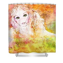 Listen To The Colour Of Your Dreams Shower Curtain by Barbara Orenya