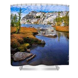 Little Annapurna Shower Curtain by Inge Johnsson