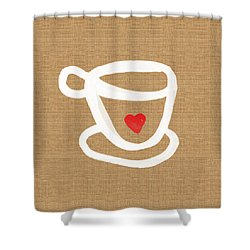 Little Cup Of Love Shower Curtain by Linda Woods