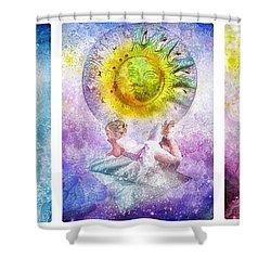 Little Dream Triptic Shower Curtain by Mo T