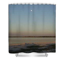 Little Moon Shower Curtain by Robert Nickologianis