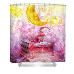 Little Reader Shower Curtain by Mo T