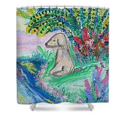 Little Sweet Pea Shower Curtain by Diane Pape