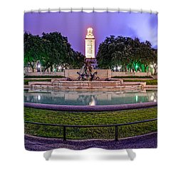 Littlefield Fountain At The University Of Texas In Austin Atx 512 Shower Curtain by Silvio Ligutti