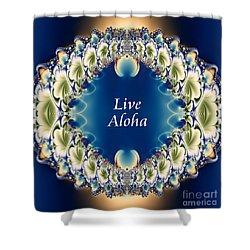 Live Aloha Shower Curtain by Renee Trenholm
