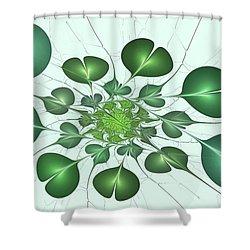 Live In Clover Shower Curtain by Anastasiya Malakhova