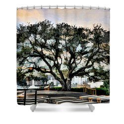 Live Oak Artistic Trendering Shower Curtain by Dan Friend