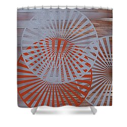 Living Spaces No 2 Shower Curtain by Ben and Raisa Gertsberg