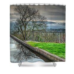 Llangollen Canal  Shower Curtain by Adrian Evans