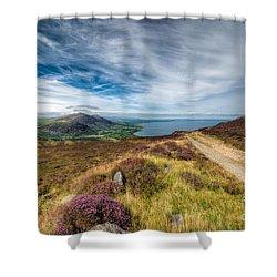 Llyn Peninsula Shower Curtain by Adrian Evans