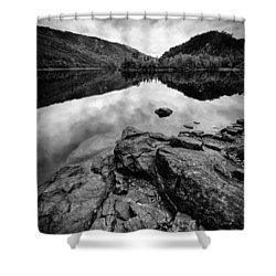Loch Beinn A Mheadhoin Shower Curtain by Dave Bowman