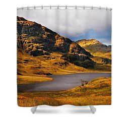 Loch Restil. Rest And Be Thankful. Scotland Shower Curtain by Jenny Rainbow
