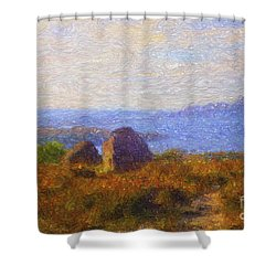 Loch View Shower Curtain by Diane Macdonald