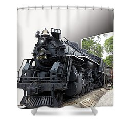 Locomotive 639 Type 2 8 2 Out Of Bounds Shower Curtain by Thomas Woolworth