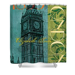 London 1859 Shower Curtain by Debbie DeWitt