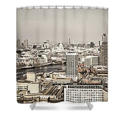 London Cityscape Shower Curtain by Elena Elisseeva