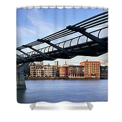 Millennium Bridge London 1 Shower Curtain by Rod McLean