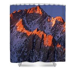 Lone Pine Peak Shower Curtain by Inge Johnsson