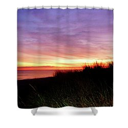 Lonely Beach At Sunrise Norfolk Va Shower Curtain by Susan Savad