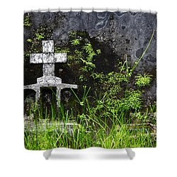 Lonely Grave Shower Curtain by James Brunker