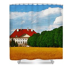 Lonely Mansion Shower Curtain by Ayse Deniz