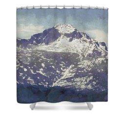 Longs Peak Shower Curtain by Dan Sproul
