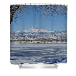 Longs Peaks Winter Landscape View Shower Curtain by James BO  Insogna