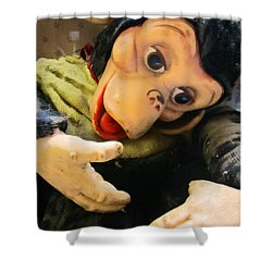 Look Ma No Thumbs Shower Curtain by Kym Backland