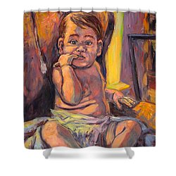 Looking At Me Shower Curtain by Kendall Kessler