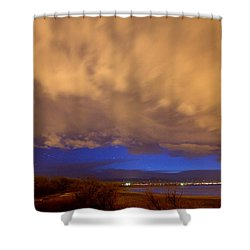 Looking Through The Storm Shower Curtain by James BO  Insogna