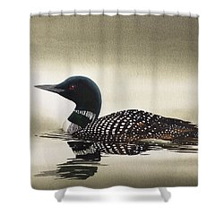 Loon In Still Waters Shower Curtain by James Williamson