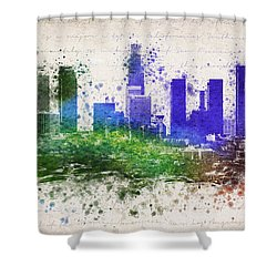 Los Angeles In Color  Shower Curtain by Aged Pixel