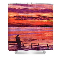 Lost In Wonder Shower Curtain by Jane Small