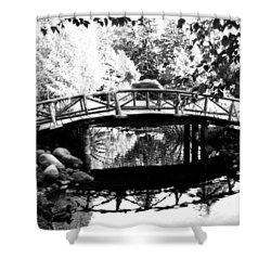 Lost Lagoon Bridge  Shower Curtain by Will Borden