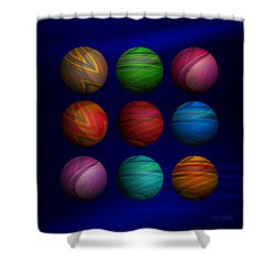 Lost My Marbles Shower Curtain by Mary Machare