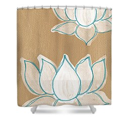 Lotus Serenity Shower Curtain by Linda Woods