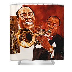 Louis Armstrong Shower Curtain by Dick Bobnick